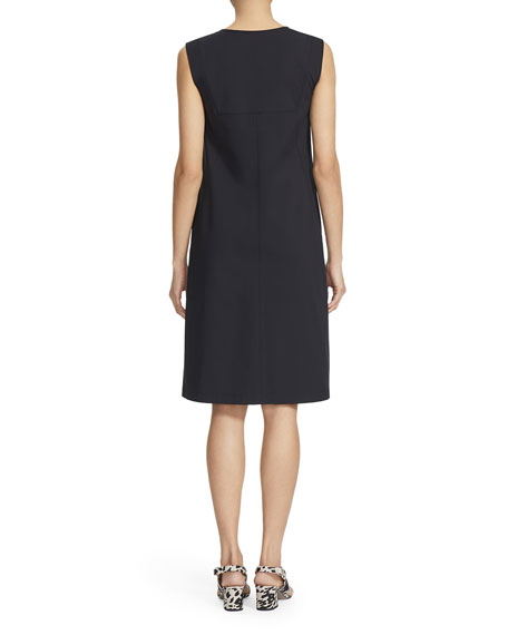 Image 2 of 2: Lafayette 148 New York Audren Sleeveless Zip-Front Shift Dress