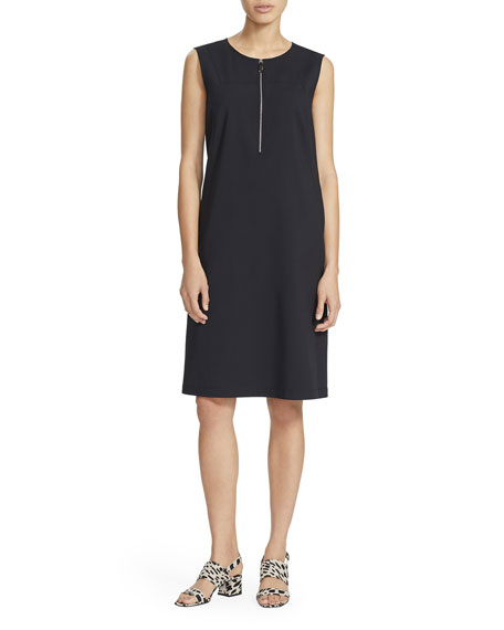 Image 1 of 2: Lafayette 148 New York Audren Sleeveless Zip-Front Shift Dress