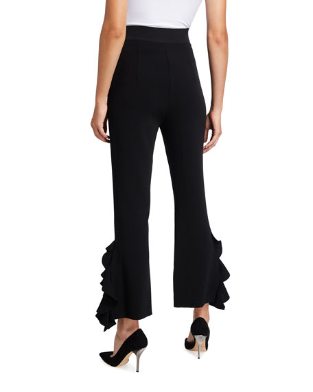 Image 2 of 3: cinq a sept Emily Ruffled Flare Pants