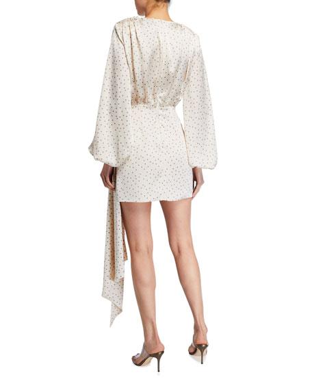 Bronx and Banco Bronte Blanc Mini Wrap Dress