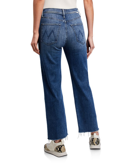 Image 2 of 3: MOTHER The Rambler Ankle Fray Jeans