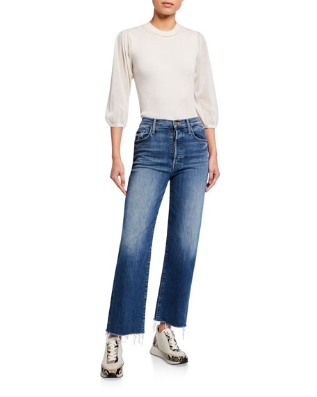 Image 3 of 3: MOTHER The Rambler Ankle Fray Jeans