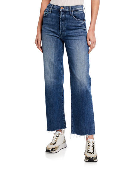 Image 1 of 3: MOTHER The Rambler Ankle Fray Jeans