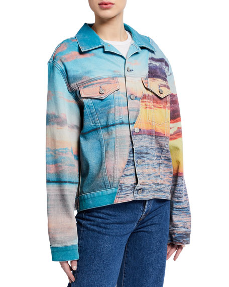 Image 2 of 3: Hudson Landscape Oversized Trucker Jacket