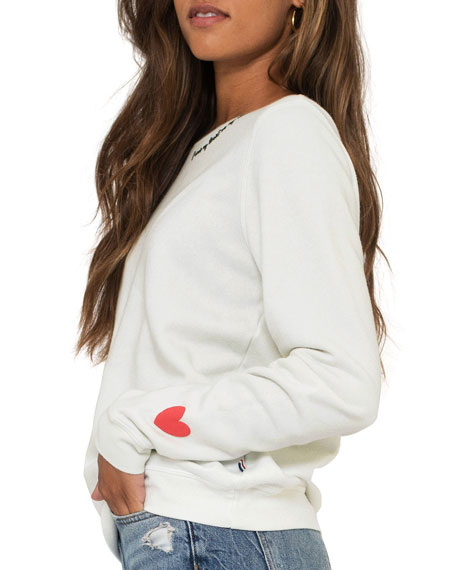 Image 1 of 3: Heart Sleeve Sweater
