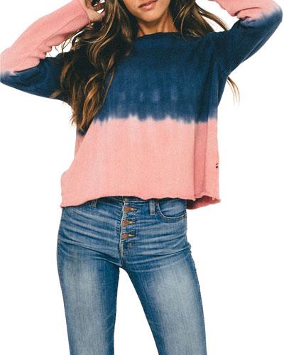 Dip Dye Cropped Sweatshirt