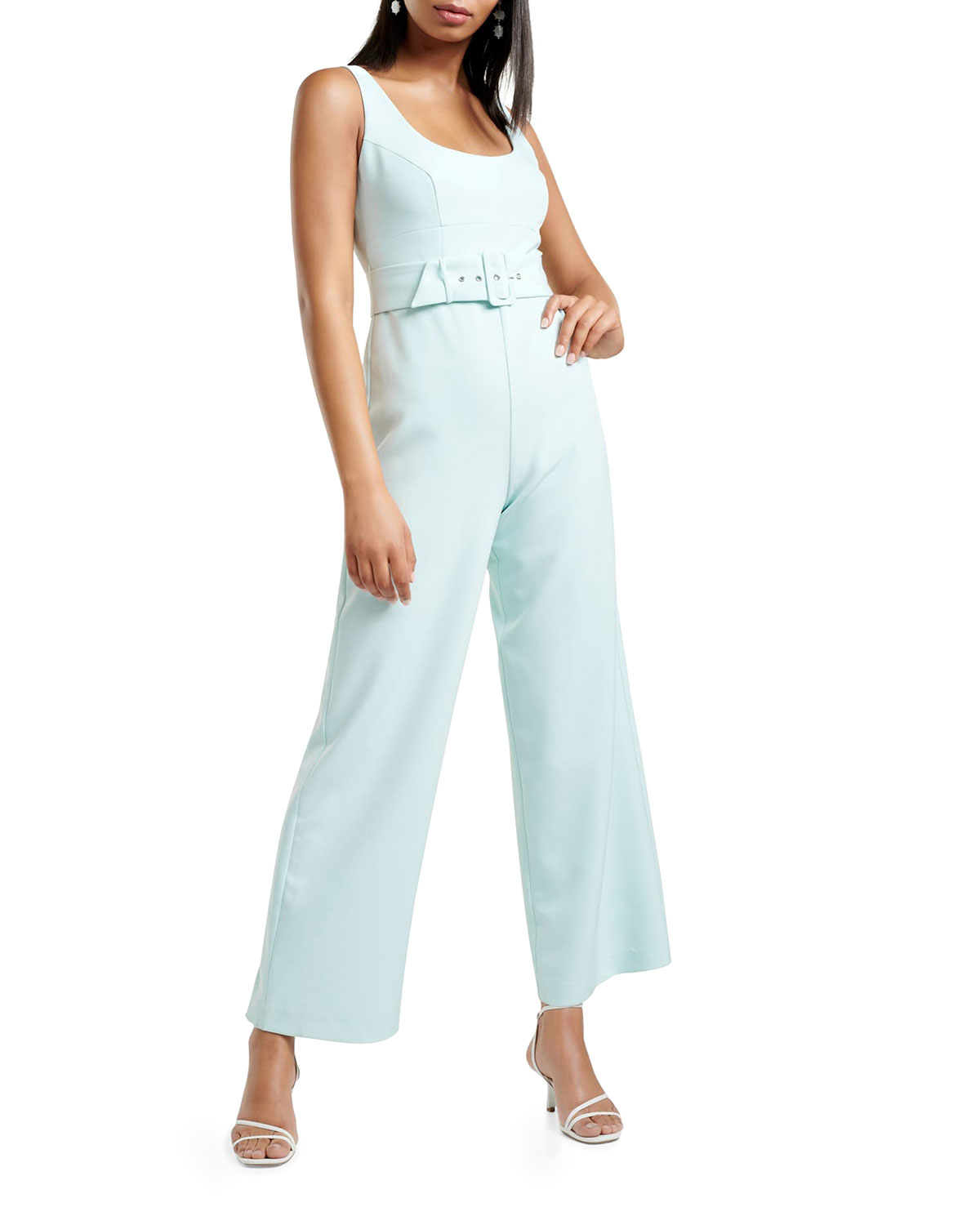 Ever New Belted Tank Top Jumpsuit
