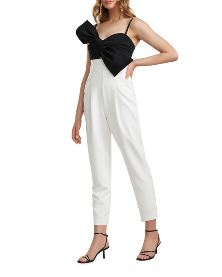 Image 2 of 4: Ever New Bow-Bodice Two-Tone Jumpsuit