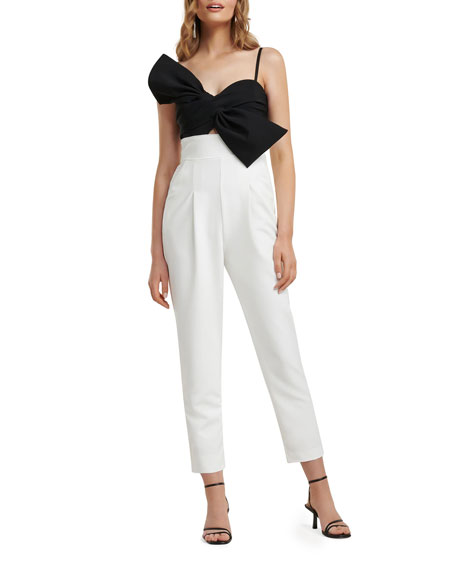 Image 1 of 4: Ever New Bow-Bodice Two-Tone Jumpsuit