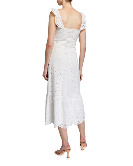 Image 2 of 2: Parker Genevieve Scalloped Eyelet Midi Dress