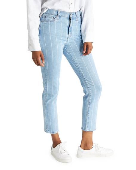 Image 2 of 3: etica Finn Striped Ankle Jeans