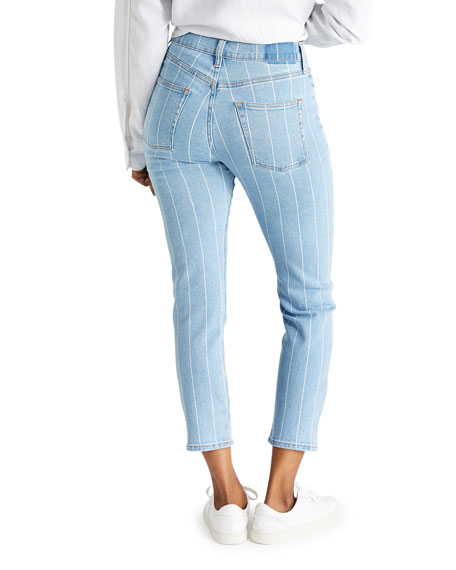 Image 3 of 3: etica Finn Striped Ankle Jeans