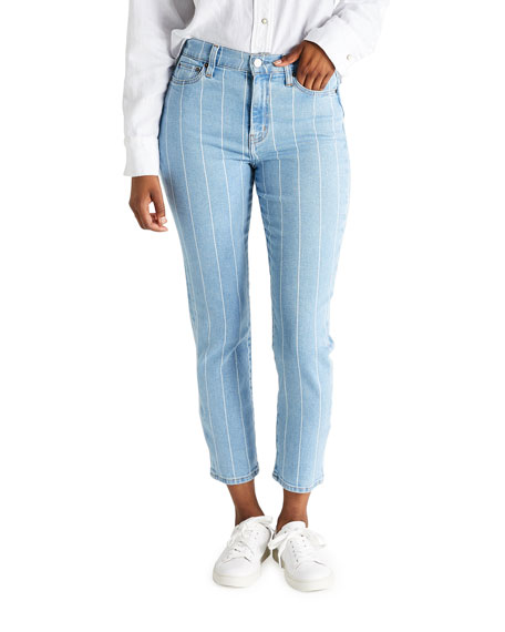 Image 1 of 3: etica Finn Striped Ankle Jeans