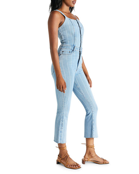 Image 2 of 3: etica Ivy Striped Denim Overalls
