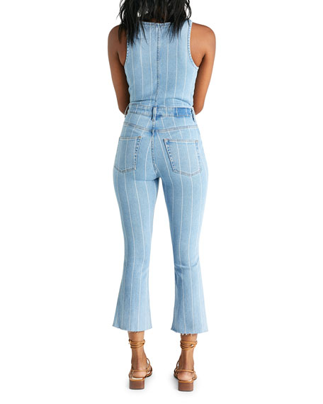 Image 3 of 3: etica Ivy Striped Denim Overalls