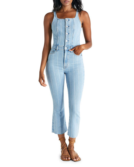 Image 1 of 3: etica Ivy Striped Denim Overalls