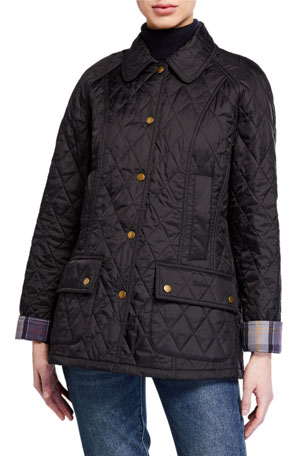 Barbour Summer Beadnell Diamond-Quilt Coat