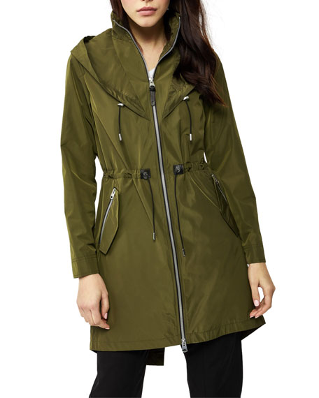 Image 1 of 4: Mackage Franki Hooded Fishtail Parka Rain Jacket