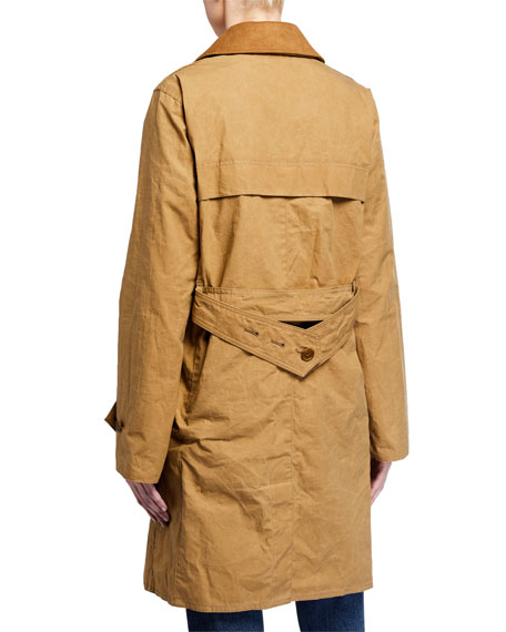 Image 4 of 4: Barbour Haydon Double-Breasted Cotton Trench Coat