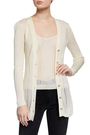 L'Agence Millie Button-Down Cardigan