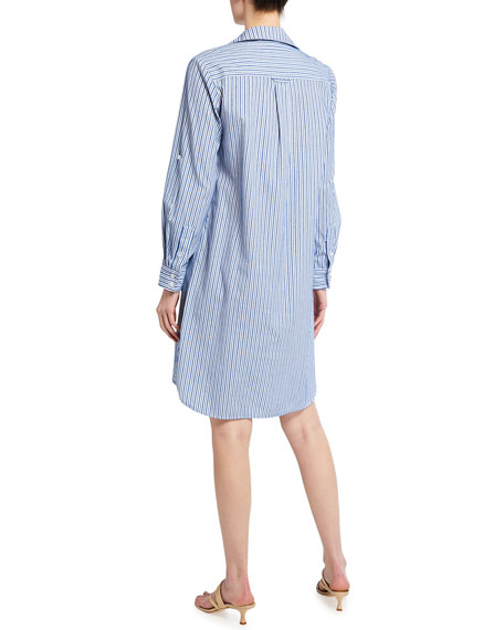 Image 3 of 3: Finley Bailey Chenille Stripe Button-Down Shirtdress