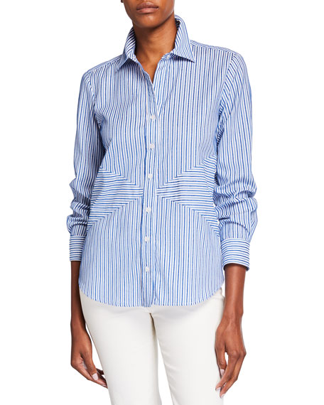 Image 1 of 2: Finley Max Chenille Stripe Shirt