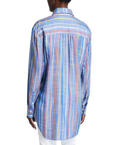Image 2 of 2: Finley Monica Grover Stripe Button-Down Shirt
