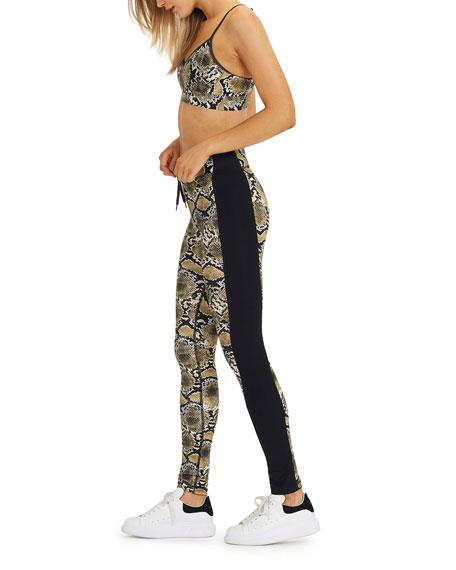The Upside Snakeskin Printed Yoga Pants