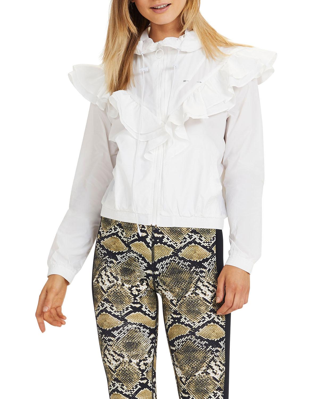 The Upside Joy Hooded Ruffle Jacket