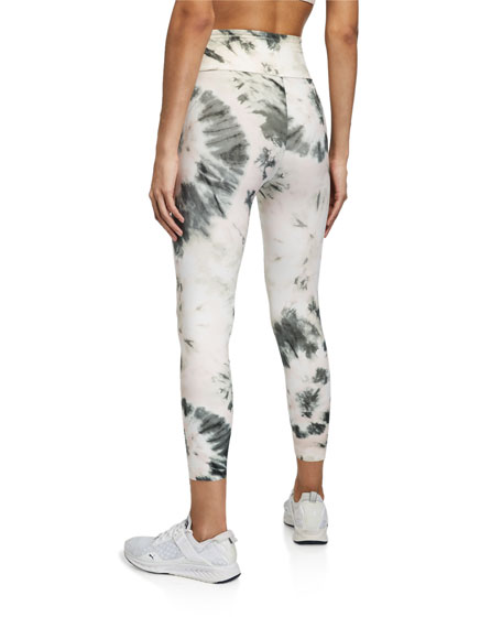 Image 2 of 3: Aurum Nebula Tie-Dye High-Waist Active Leggings