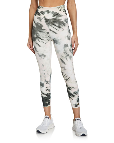 Image 1 of 3: Aurum Nebula Tie-Dye High-Waist Active Leggings