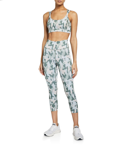 Image 3 of 3: Aurum Freedom Camo Active Crop Leggings