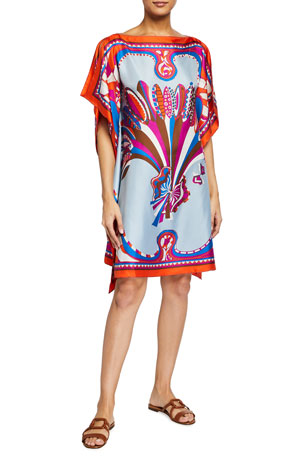 Emilio Pucci Short Silk Coverup Sundress