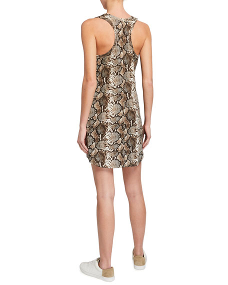 Image 2 of 2: Pam & Gela Snake-Print Tank Dress