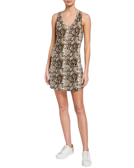 Image 1 of 2: Pam & Gela Snake-Print Tank Dress