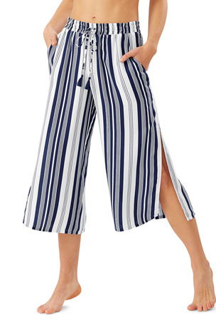 Tommy Bahama Tan Lines Stripes Cropped Pants