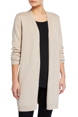 Eileen Fisher Organic Linen-Cotton Long Cardigan
