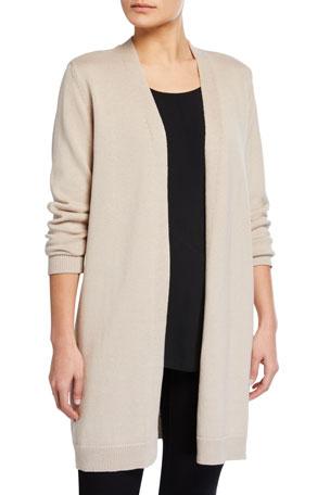 Eileen Fisher Organic Linen-Cotton Long Cardigan