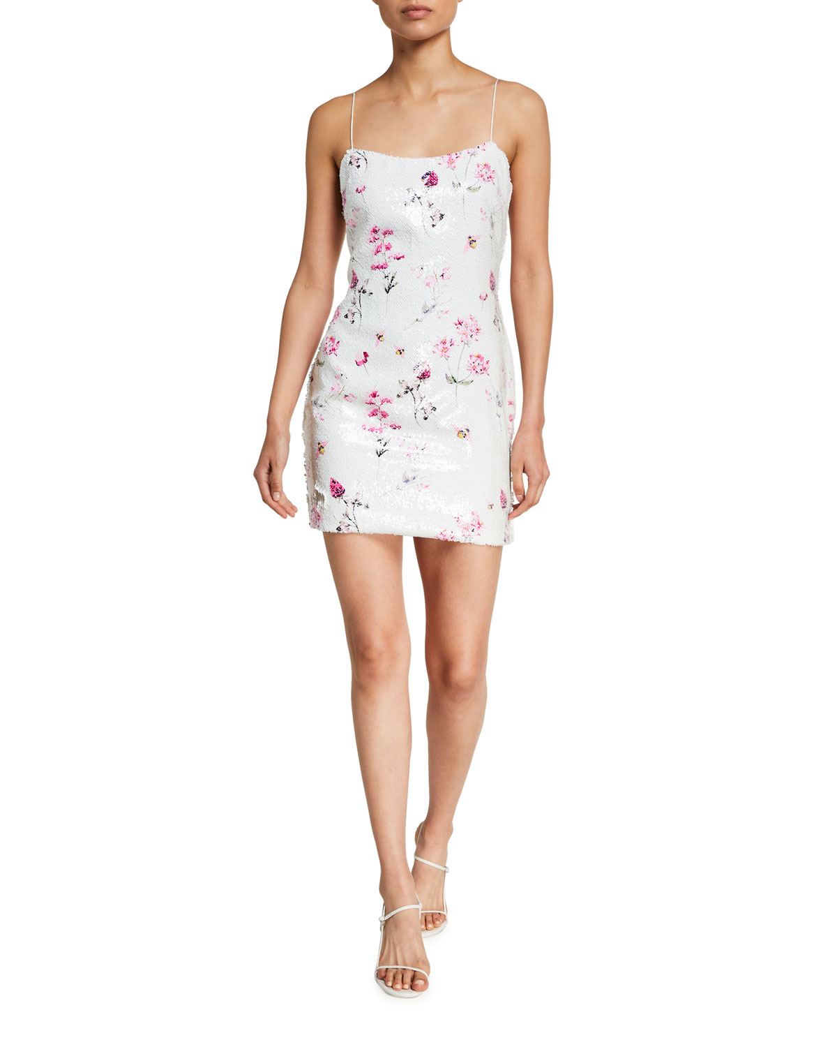 Likely Reese Floral Sequined Cocktail Dress