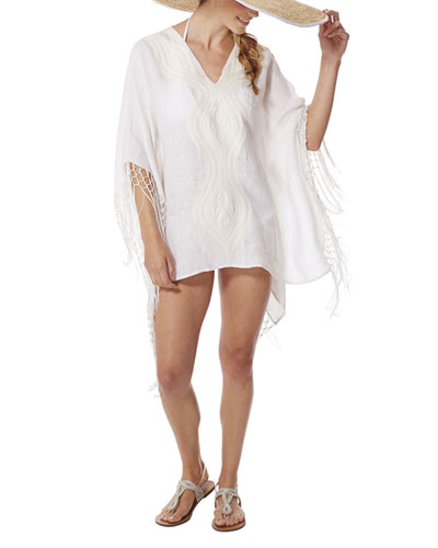 Miramonti Embroidered Coverup Tunic