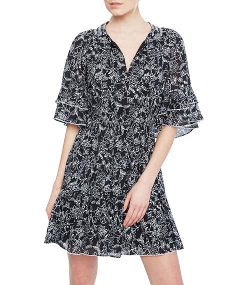 Parker Lindsay Tiered V-Neck Dress