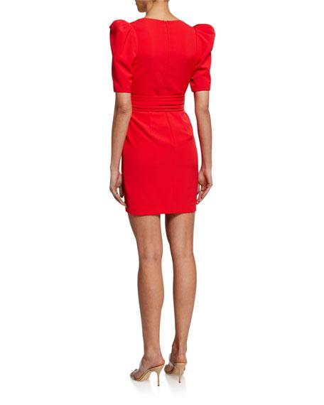 Black Halo Maricopa Elbow-Sleeve Belted Dress