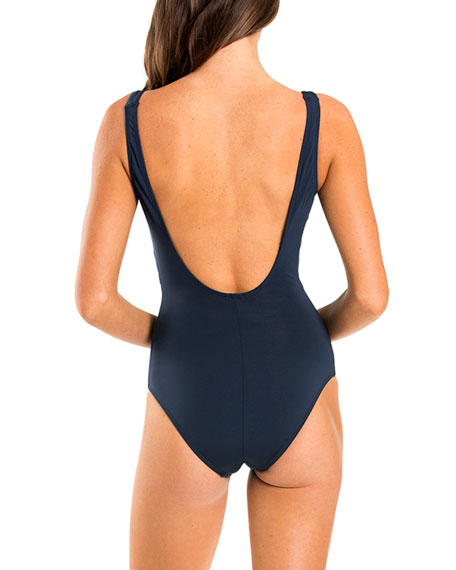 Image 2 of 3: Jetset Wrap One-Piece Swimsuit with Open Back