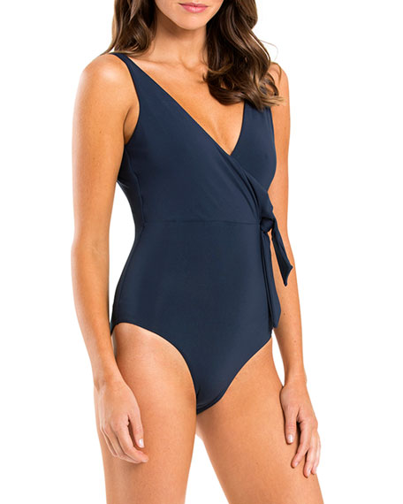 Image 3 of 3: Jetset Wrap One-Piece Swimsuit with Open Back