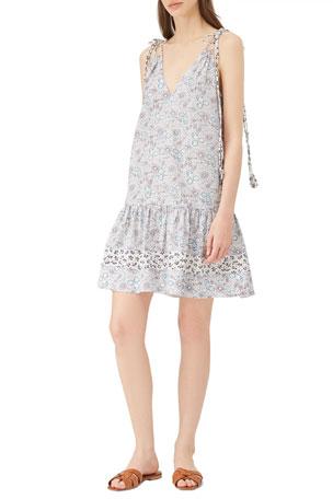 Rebecca Taylor Mix Print Tank Dress