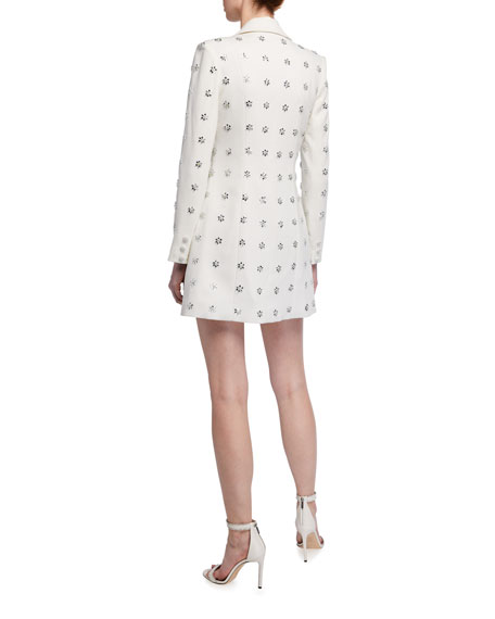 Image 2 of 2: Jay Godfrey Ace Embellished Tuxedo Mini Dress