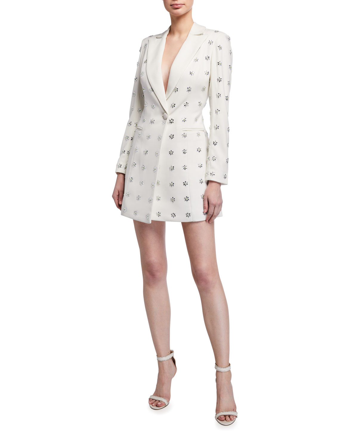 Jay Godfrey Ace Embellished Tuxedo Mini Dress