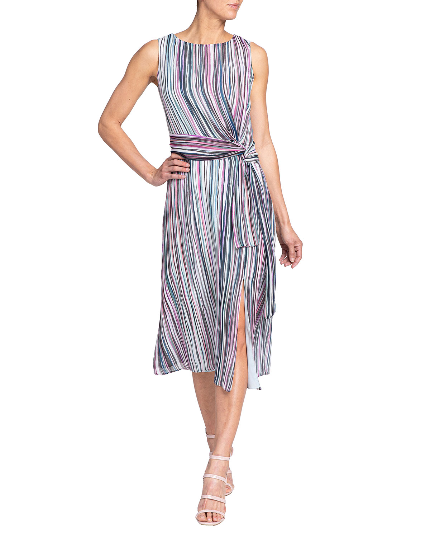 Santorelli Dori Brushstroke Sleeveless Dress