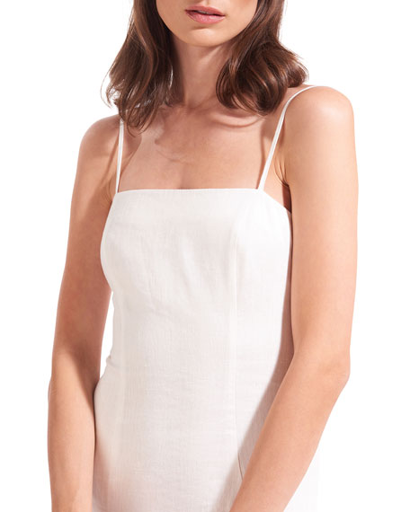 Staud Lychee Linen/Cotton Midi Dress