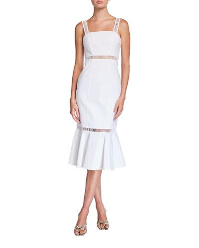 Lychee Linen/Cotton Midi Dress